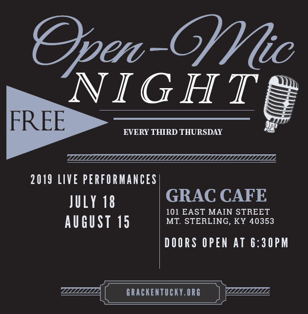 Open Mic Night at the GRAC Cafe
