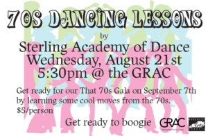 70s Dancing Lessons by Sterling Academy of Dance on Wednesday, August 21 at 5:30pm